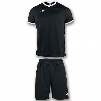 Комплект футбольной формы Joma ACADEMY чёрно-белый 2XS