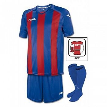 Футбольная форма Joma PISA 12 (комплект футболка+шорты+гетры) сине-красная