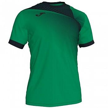 Футболка Joma HISPA II зелёно-чёрная к/р