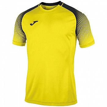 Футболка Joma HISPA желто-черная к/р