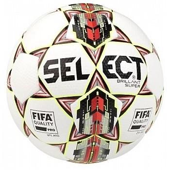 М'яч футбольний SELECT BRILLANT SUPER FIFA (HS) біло-червоний розмір 5