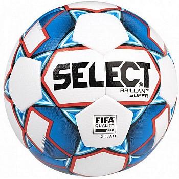 М'яч футбольний SELECT BRILLANT SUPER FIFA (HS) біло-синій, разм.5