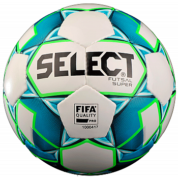 Мяч футзальный Futsal Super FIFA NEW бело-синий