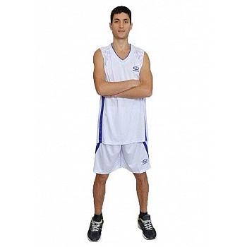 Баскетбольная форма Europaw бело-фиолетовая