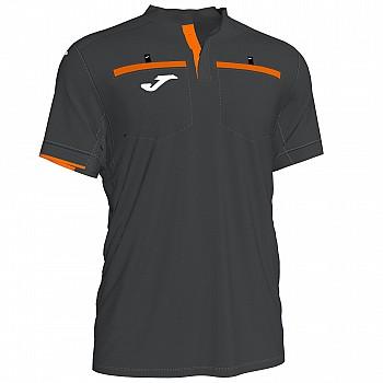 Судейская футболка Joma RESPECT II черно-оранжевая