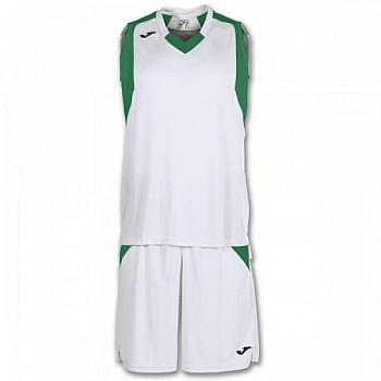 Комплект баскетбольной формы Joma FINAL бело-зеленый 3XL
