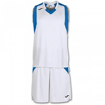 Комплект баскетбольной формы Joma FINAL бело-синий 3XL