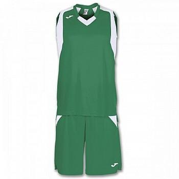 Комплект баскетбольной формы Joma FINAL зелено-белый
