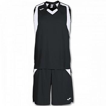 Комплект баскетбольной формы Joma FINAL черно-белый