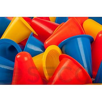 Набор конусов для тренировок SECO® 8 см 4 цвета (40 штук) - фото 2