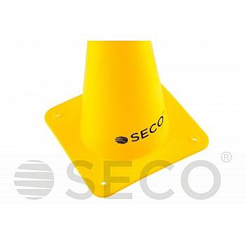 Тренировочный конус SECO® 15 см желтого цвета - фото 2