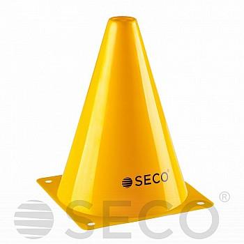 Тренировочный конус SECO® 18 см желтого цвета