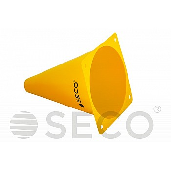 Тренировочный конус SECO® 18 см желтого цвета - фото 2