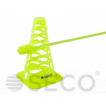Тренировочный конус SECO® с отверстиями 23 см цвет зеленый неон - фото 2