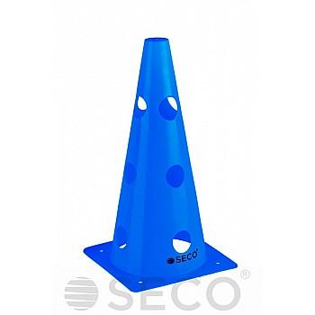 Тренировочный конус с отверстиями SECO® 32 см синего цвета