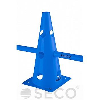 Тренировочный конус с отверстиями SECO® 32 см синего цвета - фото 2
