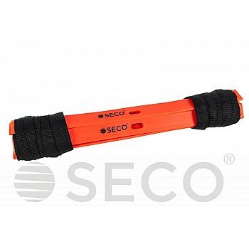 Тренировочная лестница координационная для бега SECO® 12 ступеней 6 м оранжевого цвета