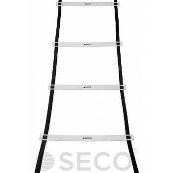 Тренировочная лестница координационная для бега SECO® 16 ступеней 8 м белого цвета