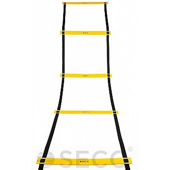 Тренировочная лестница координационная для бега SECO® 8 ступеней 4 м желтого цвета