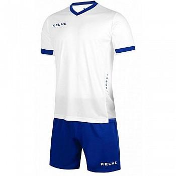 Комплект футбольной формы Kelme ALAVES бело-синий к/р K15Z212.9104