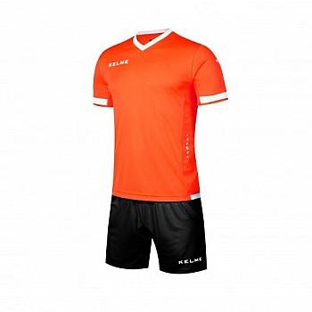 Комплект футбольной формы Kelme ALAVES оранжево-черный к/р K15Z212.9910