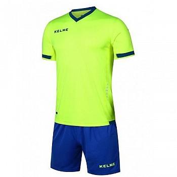 Комплект футбольной формы Kelme ALAVES салатово-синий к/р K15Z212.9915