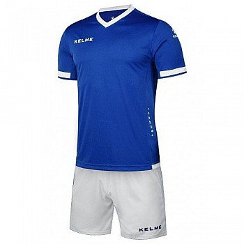 Комплект футбольной формы Kelme ALAVES сине-белый к/р K15Z212.9409