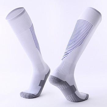 Гетры Formas AXES белые с синими полосками