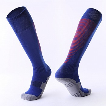 Гетры Formas AXES темно-синие с красными полосками