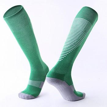 Гетры Formas AXES зеленые с белыми полосками