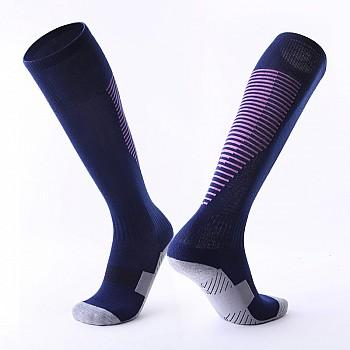 Гетры Formas AXES темно-синие с фиолетовыми полосками