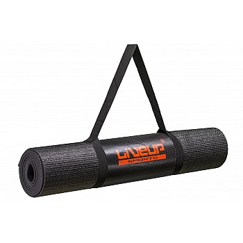 Коврик для йоги LiveUp Yoga Mat Total Black (Limited Edition)