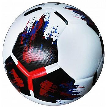Мяч футбольный OMB Ball бело-черно-красный [№5]