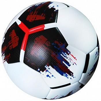 Мяч футбольный OMB Ball бело-черно-красный [№5] - фото 2