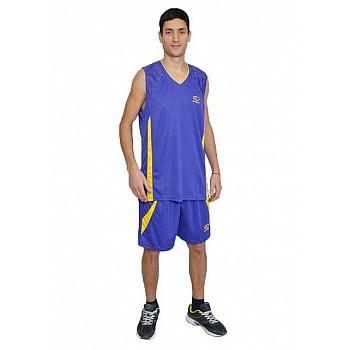 Баскетбольная форма Europaw фиолетово-желтая [2XL]