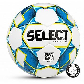 Мяч футбольный Select Numero 10 FIFA бело/сине/салат [5]