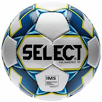 Мяч футбольный Select Numero10 IMS 2019 бел/син/салат [№5]