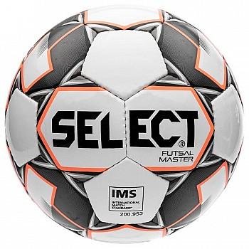 Мяч футзальный Select Futsal Master NEW IMS бел/оранж/черн [№4]