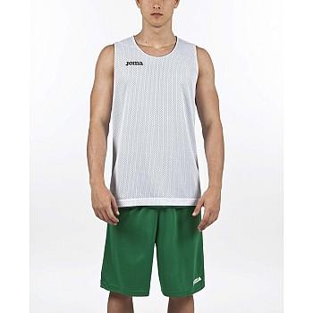 Aro баскетбольная майка без рукавов двустороння белая/зеленая 2xl-3xl - фото 2
