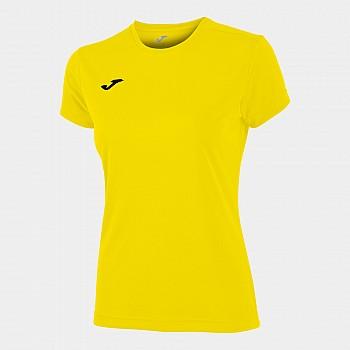 Футболка женская Combi желтая с коротким рукавом XS