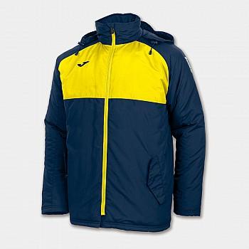 Andes куртка с капюшоном сочетание темно-синего и желтого L