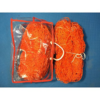 Сетка для ворот гандбол\футзал нейлон оранжевая 203