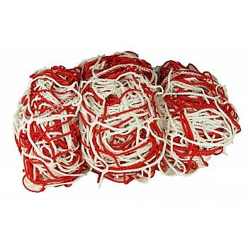 Сетка для футбольных ворот 9009 - 17 (хлопок) красная