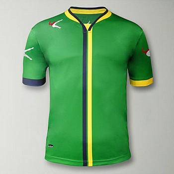 Футболка игровая LEGEA BEIRA зелено-желтая