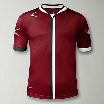 Футболка игровая LEGEA BEIRA т.красно-белая