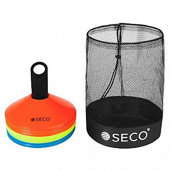 Набор тренировочных фишек SECO® 3 цвета с подставкой и сумкой (30 штук)