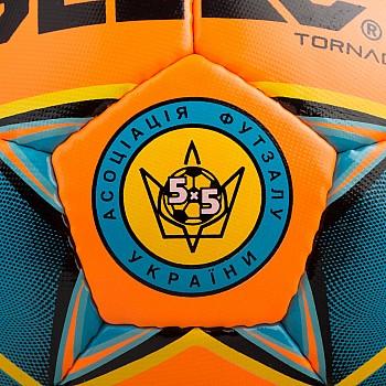 Мяч футзальный SELECT Futsal Tornado (FIFA Quality PRO)  помаран/синій - фото 2