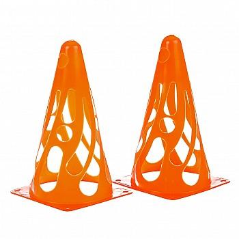 Конус тренировочный мягкий h23см  оранжевый - фото 2