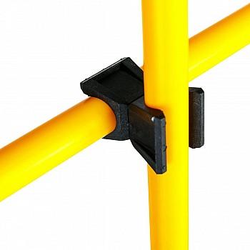 Стойки 2шт с перекладиной/барьер желтые - фото 2