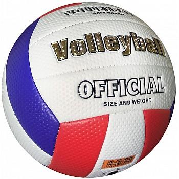 Мяч волейбольный soft touch (бело-сине-красный) [5]